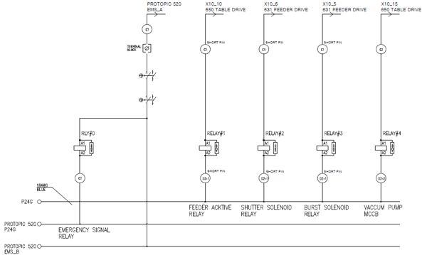RELAY & MCCB Wiring Diagram